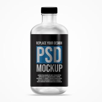 Runde flasche mockup design