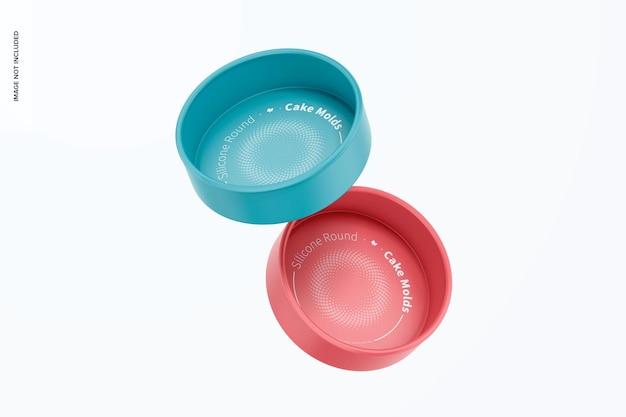 Runde kuchenformen aus silikon, schwimmend