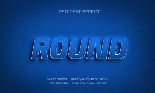 Runde neon-texteffektvorlage im 3d-stil