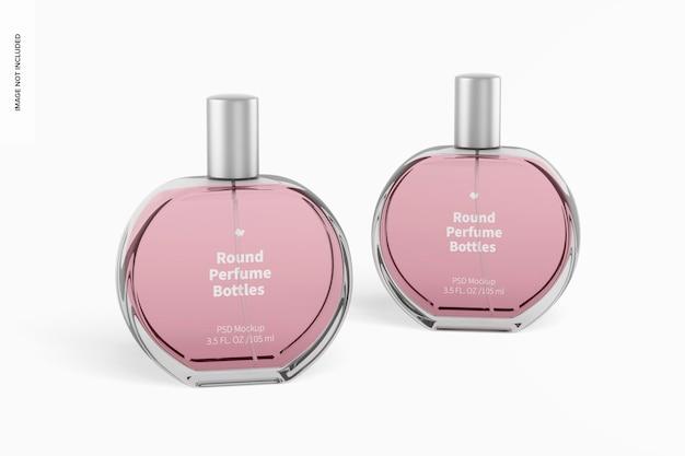 Runde parfümflaschen mockup