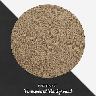 Runder brauner textilservice am transparenten hintergrund