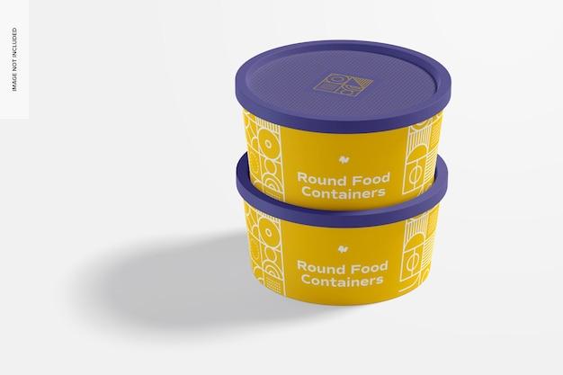 Runder kunststoff-lebensmittellieferbehälter modell, geschlossen