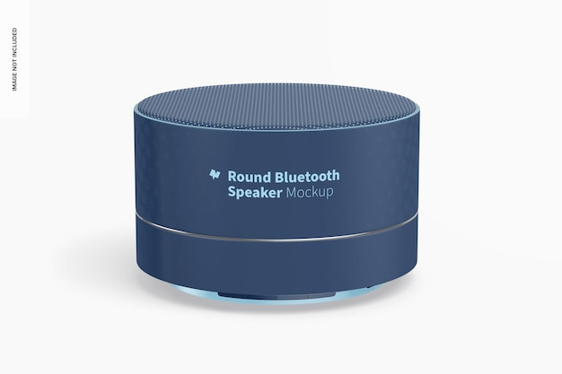 Rundes bluetooth-lautsprechermodell, vorderansicht