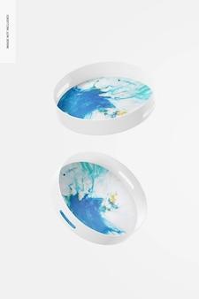 Rundes dekoratives tablett-modell, schwimmend