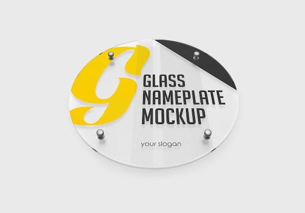Rundes glasschildschildmodell