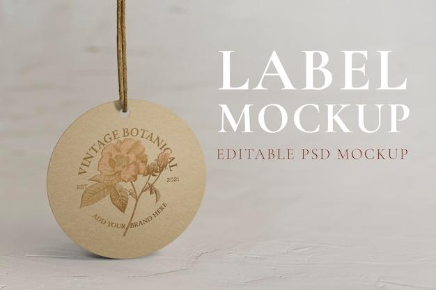 Rundes label-tag im vintage-stil