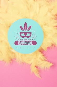 Rundes papiermodell mit karnevalskonzept