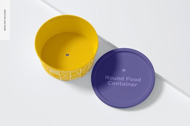 Rundes plastik-lebensmittel-lieferbehälter-modell, draufsicht