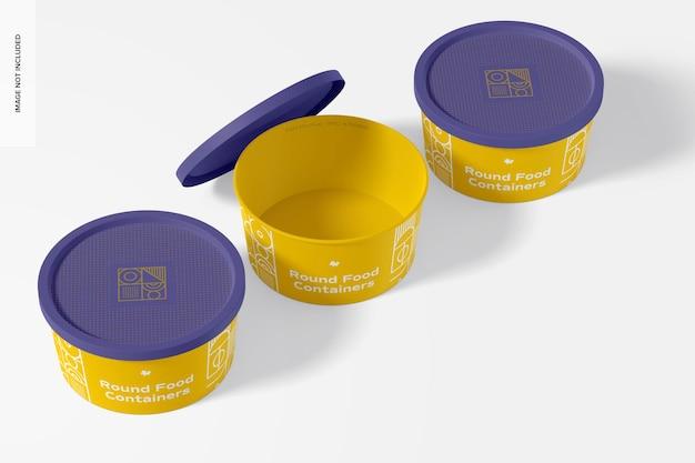 Rundes plastik-lebensmittel-lieferbehälter-modell