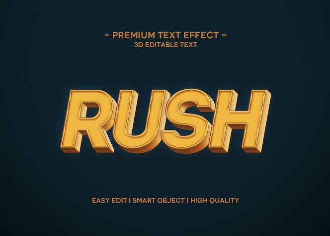 Rush text effect style vorlage