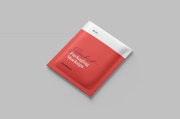 Sachet packaging mockup Premium PSD