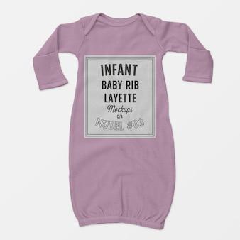 Säuglingsbabyrippen-babyausstattungmodell 03