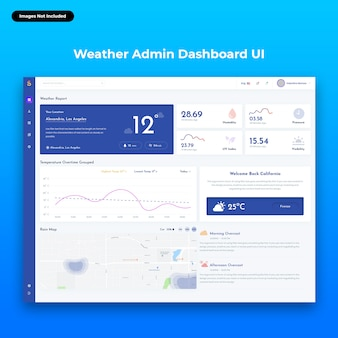 Sailsmith-weather web admin dashboard-benutzeroberfläche