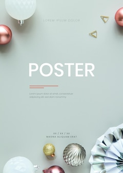 Saisonales minimales poster-banner-modell