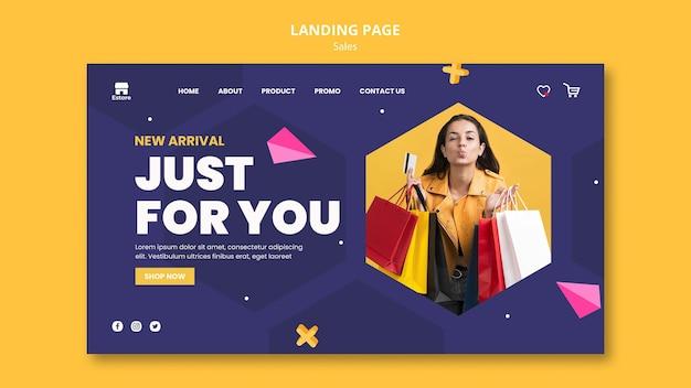 Sales landing page vorlage