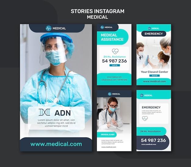 Sammlung medizinischer instagram-geschichten