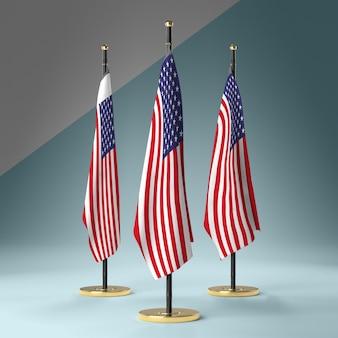 Sammlung von flaggen der usa