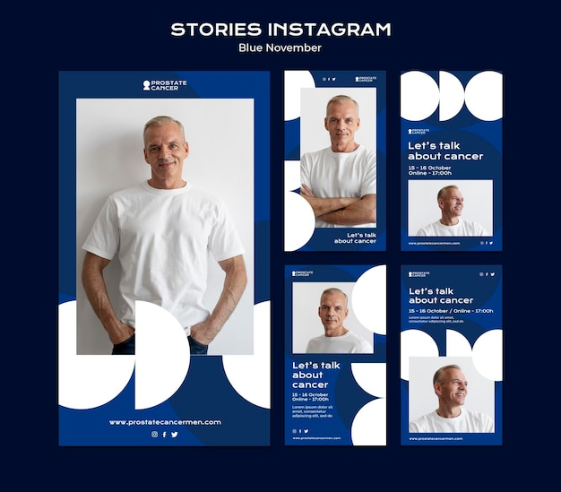 Sammlung von social-media-geschichten zur sensibilisierung für prostatakrebs