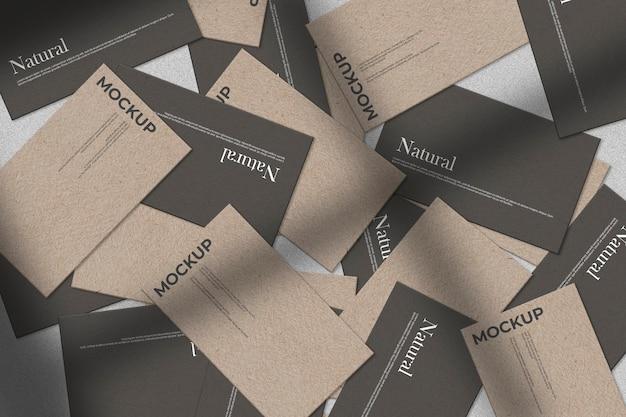 Sammlung von visitenkarten chaotisch modell