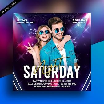 Samstag nacht party flyer