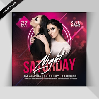 Samstag nacht party flyer