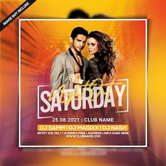 Samstag nachtclub party flyer