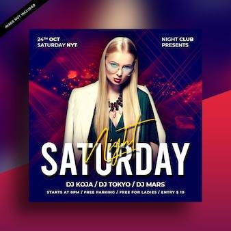 Samstag party flyer vorlage