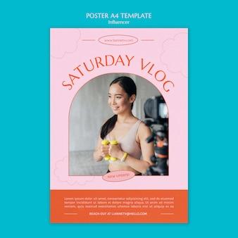 Samstag vlog poster vorlage