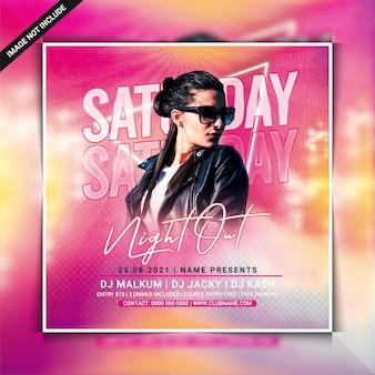 Samstagabend club party flyer vorlage