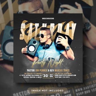Samstagabend party flyer social media post webbanner