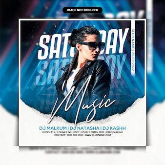 Samstags-musi-nachtclub-party-flyer