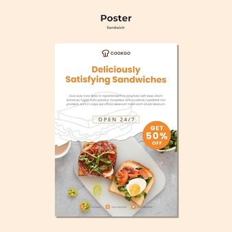 Sandwich-konzeptplakatschablone