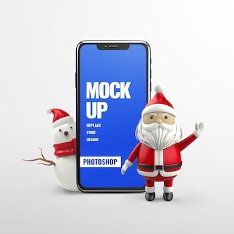 Santa merry christmas werbetelefon modell