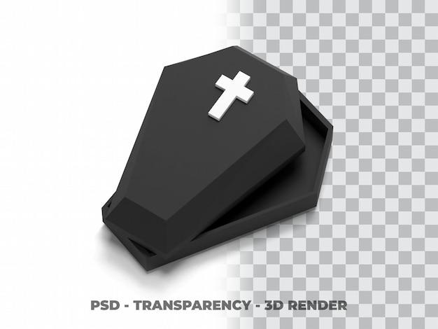 Sarg 3d-modell mit transparenzhintergrund