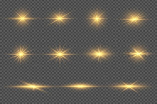 Satz transparenter digitaler linseneffekte