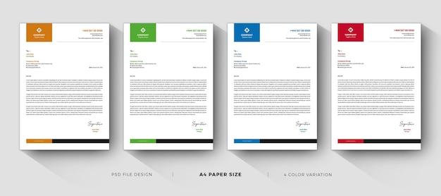 Saubere briefkopfvorlagen professionelles und modernes design
