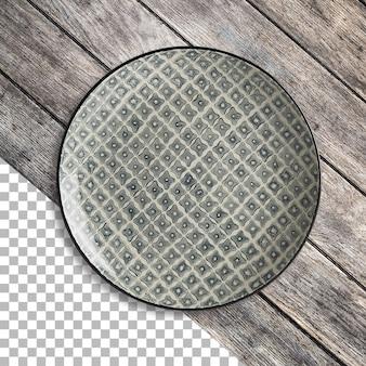 Saubere leere keramikplatte isoliert auf transparenz