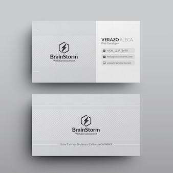 Saubere minimale visitenkarte-schablone
