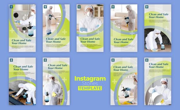 Saubere und sichere instagram-geschichten