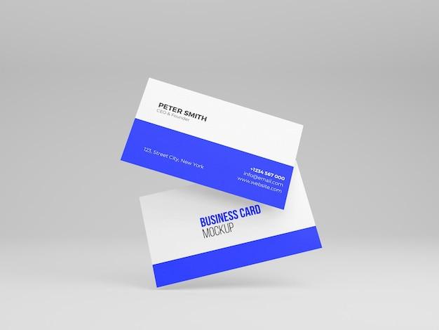 Saubere visitenkarte 3d mockup weißer hintergrund