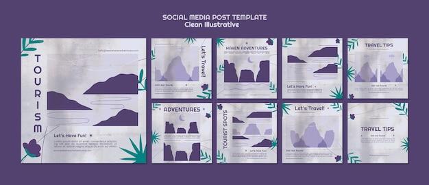 Sauberer illustrativer social-media-beitrag