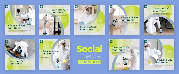 Sauberer und sicherer social-media-beitrag
