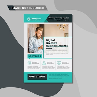 Sauberes business-flyer-layout