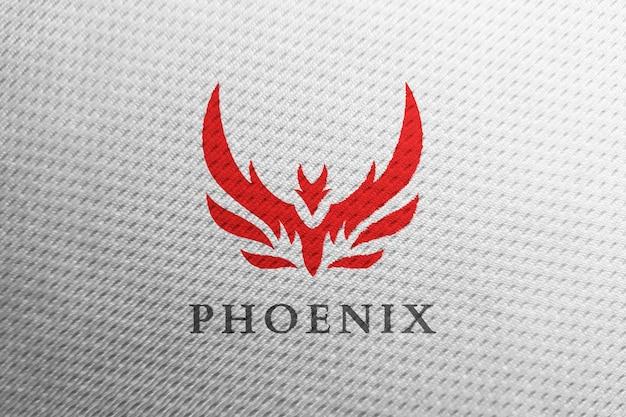 Sauberes logo-modell aus weißem sportstoff Premium PSD