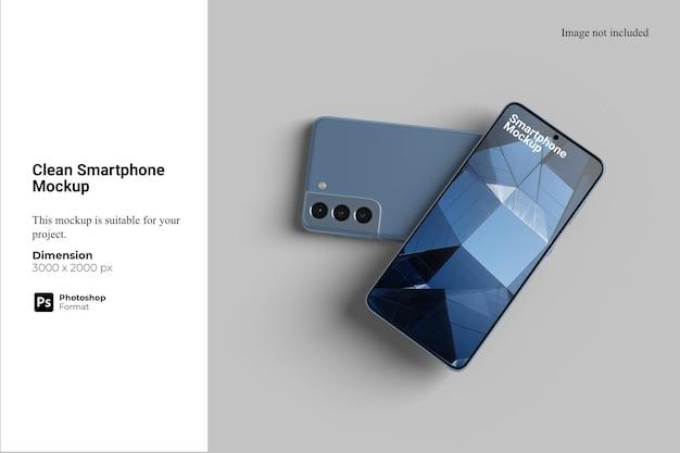 Sauberes smartphone-mockup