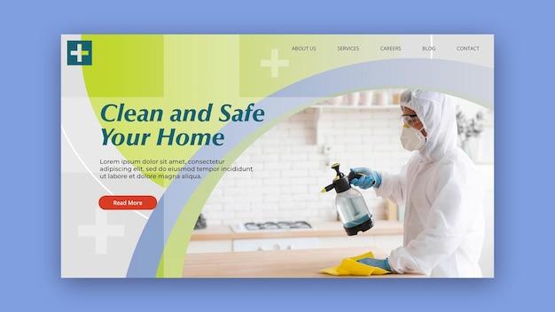 Sauberes und sicheres banner