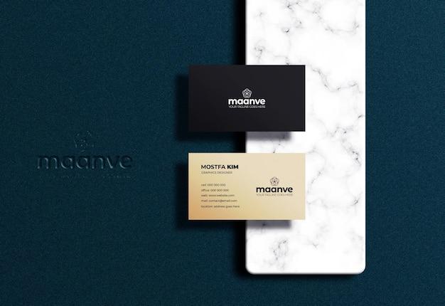 Sauberes visitenkarten- und logo-modell premium psd