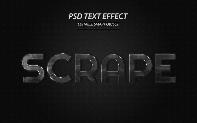 Schaben sie die designvorlage für texteffekte ab