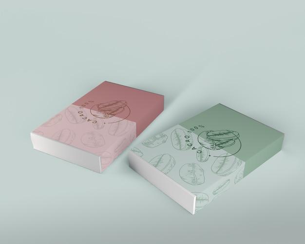 Schachtel mit schokoladendesign-modell
