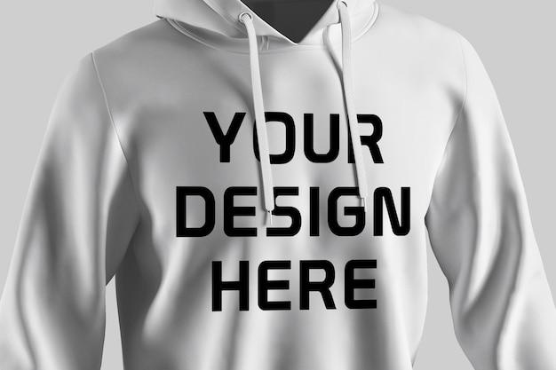 Schaufenster des hoodie-modellentwurfs isoliert